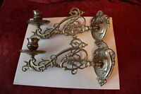 2 bougeoir pour mur,  bronze, made in Italy (superbe)
