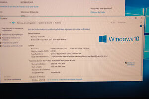 Ordinateur de bureau - tour PC Windows 10 - Wi-Fi