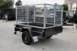 6x4 Cage Trailer - 3ft Galvanised Cage - 750kg GVM - Jockey Wheel Thomastown Whittlesea Area Preview