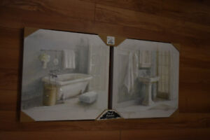 Two Bathroom Wall Art Pieces From Home Sense
