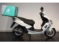 2016 65 SINNIS MATRIX 2 125 WHITE, PIZZA DELIVERY BIKE!