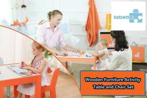 Labebe Wooden Furniture Activity Table and Chair Set for 1-5 Years Old Little Toddler/Kids, Sturdy Indoor Playroom/Be...