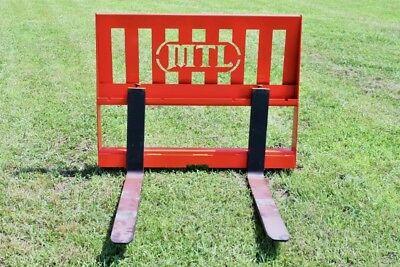 "MTL Attachments 42"" Pallet Forks 3500 lb fits Kubota-Kioti-NH Tractor Loader"