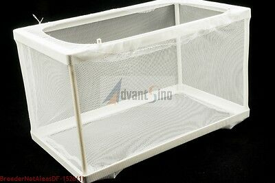"10"" Single Chamber Nylon Mesh Net Fish Spawn Hatchery/Breeder Box SHIP FROM USA"