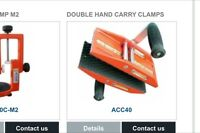 Granite or marble carry clamps