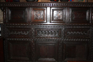 1650's Old English Oak Court Cupboard