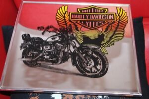 Vintage Harley Davidson HD Motor Cycle mirror wall art