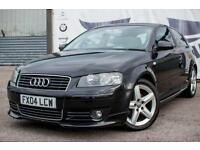 2004 AUDI A3 2.0 TDI SPORT DIESEL BODYKIT SPORTS EXHAUST 17 INCH ALLOY WHEELS CD