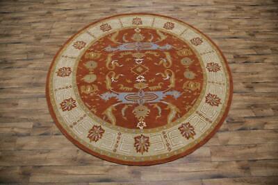 100% Wool Classic Geometric Round 10x10 Oushak Agra Oriental Area Rug Carpet ()