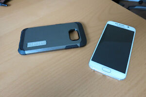Spigen Armour Samsung S6 case and glass screen protector
