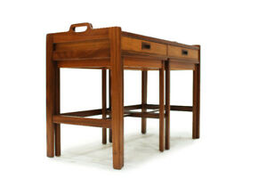 Mid Century Modern Teak Server with nesting Tables