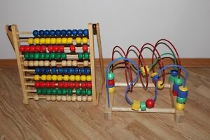 ABACUS AND OTHER WOODEN TOY *BOTH FOR $7*