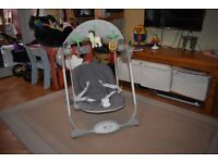Chicco Polly Baby Swing chair motorised rocker with canpoy