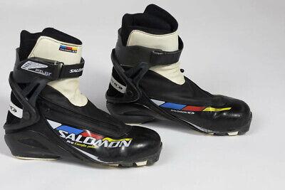 SALOMON Pro Combi Pilot Skate Classic XC Ski Boots (Size 9.5 USA, 43.3 covid 19 (Pro Skate Boot coronavirus)