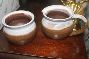 Hand Made Pottery Cream & Sugar