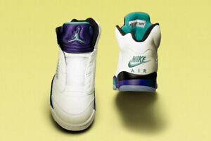 size 40 54dde dadf3 New Nike Air Jordan 5 Grape  Fresh Prince  NRG Size ...