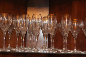 J.D. Durand Champagne Flutes, Wine Glasses and Water Goblets