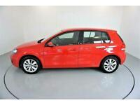 2012 RED VW GOLF 1.6 TDI 105 MATCH BLUEMOTION DSG 5DR CAR FINANCE FR £161 PCM