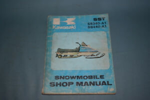 Kawasaki SST SB340 440 Snowmobile Service Shop Repair Manual