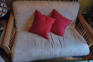 Petit sofa futon bois