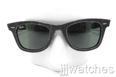 New Ray-Ban Original Wayfarer Demin Black Sunglasses RB2140 1162 50-22 (Wayfarer 200)