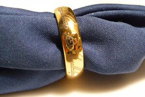 Bague Seigneur des anneaux, plaquée or, Tungstène, gr.11