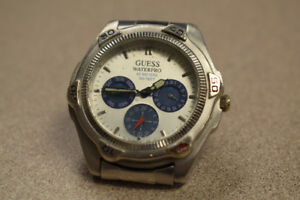 Guess Waterpro Stainless Steel Watch, 50 Meter/165 Feet