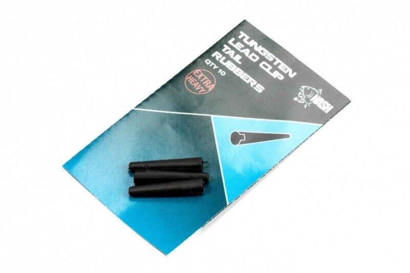 Nash Dark Silt Tungsten Lead Clip Tail Rubbers T8737 Tailrubber Karpfenangeln
