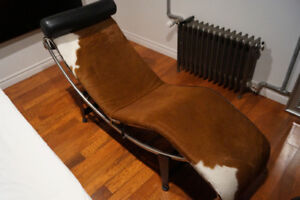 CASSINA LC4 Chaise Longue - Horsehair Lounge Chair