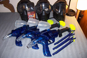 3 Complete Beginner Paint Ball Sets Everything 3 People Need