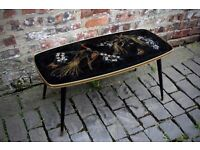 Imported French vintage mid century coffee table. Kitsch 1960s retro. Atomic