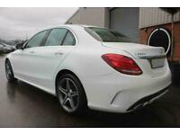 2016 WHITE MERCEDES C220D 2.1 AMG LINE AUTO SALOON CAR FINANCE FR £249 PCM