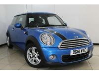 2012 61 MINI HATCH ONE 1.6 ONE PIMLICO 3DR 97 BHP