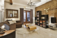 LUXUEUX condo 100% meublé et équippé 2 chambres 2 SDB - A VOIR!