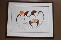 """1987 """"Untitled"""" original acrylic on paper 24x30 by Isaac Bignell Winnipeg Manitoba Preview"""
