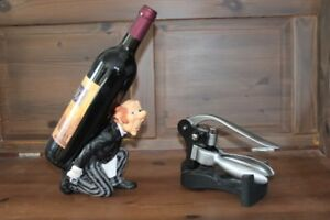 Wine bottle opener and wine holder
