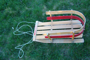 Wood made baby sleigh in excellent condition