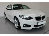 2015 WHITE BMW 218D 2.0 M SPORT DIESEL MANUAL 2DR COUPE CAR FINANCE FR £185 PCM