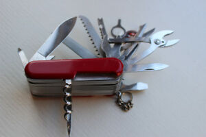 Swiss Army Knife with Toolbox - LIKE NEW!