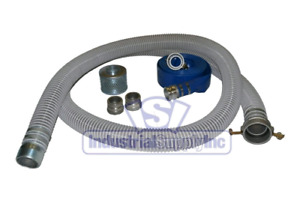 2.5 inch Hard Suction Hose Pump or Vacuum with strainer & quick