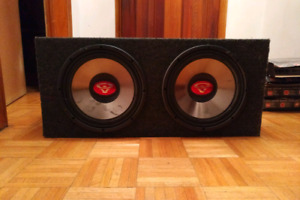 "Two12""cerwin-vega subwoofers in a custom box(32""W15.5""L14""H)"