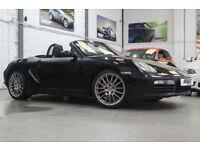 "Porsche Boxster 3.4S, 2008 57 Reg, 69k, Basalt Black, Black Leather, 19"" Alloys"