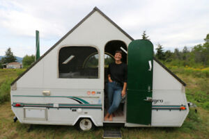 DIY A-frame pop up trailer