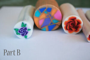 6 original unbaked polymer clay canes made by artist Kitchener / Waterloo Kitchener Area image 2