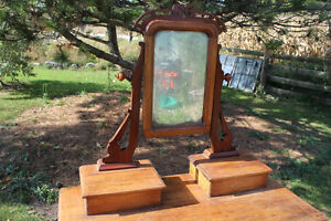 Old 3 Drawer Dresser with Mirror London Ontario image 3
