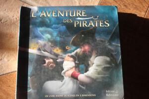 Livre jeunesse en 3 Dimensions  L'aventure des pirates