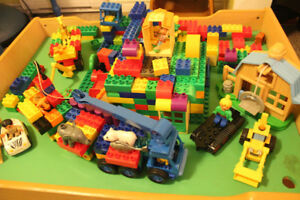 Mountain of Duplo (including Bob the Builder) and building table