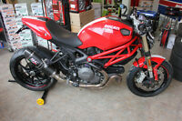 2012 Red Ducati Monster EVO 1100 With SC Project Exhaust .