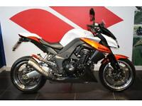 2010 60 KAWASAKI Z1000 ZR 1000, WHITE/ORANGE, HPI CLEAR, LOTS OF EXTRAS!