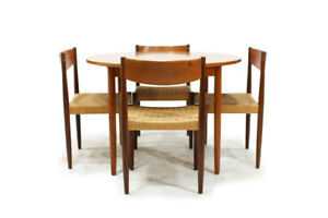 Vintage Mid Century Teak Dining Tables and Dinning Chairs